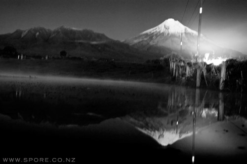 mounta taranaki night photograph