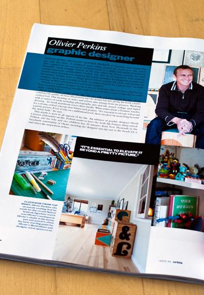 urbis magzine article on graphic designer spore olivier perkins