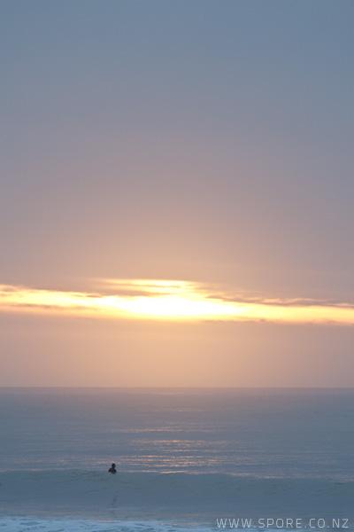 taranaki sunset surfing new zealand