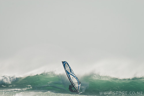 windsurfing photograph taranaki new zealand
