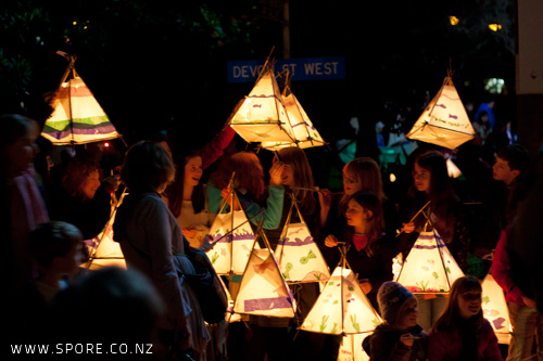 new plymouth lantern parade kids