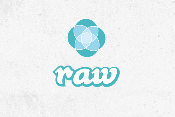 raw surf logo design
