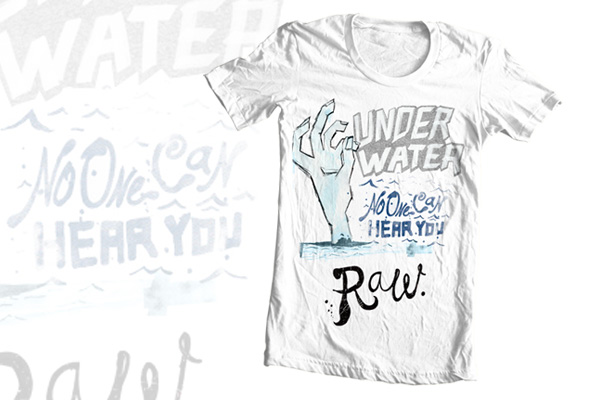 under water tshirt illustration