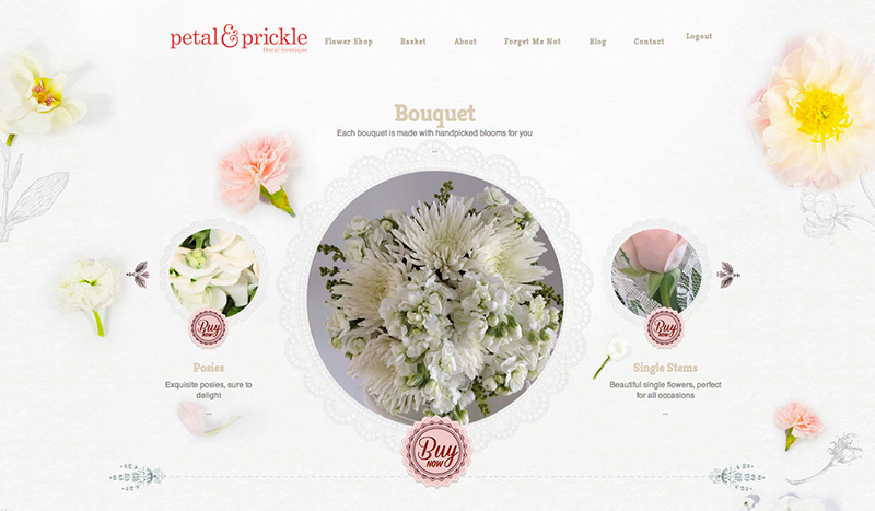 Petal & Prickle website