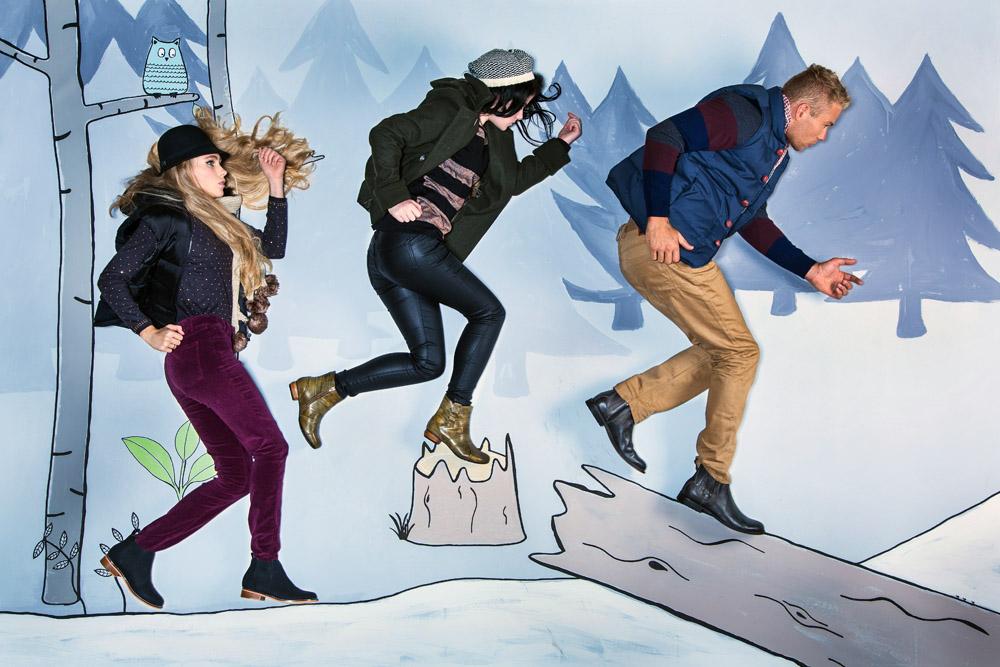 life size winter fashion illustration