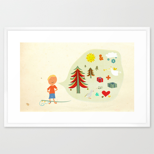 new zealand christmas art print