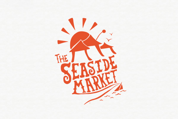 logo design for seaside market in new plymouth